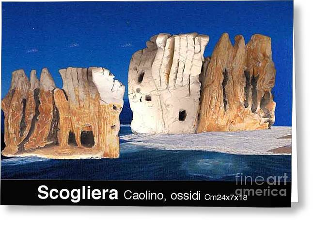 Metaphysics Sculptures Greeting Cards - Cliff Greeting Card by Ari Nunes