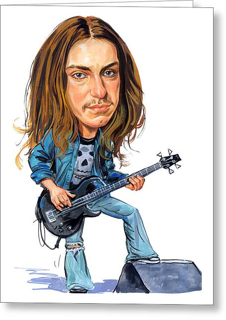 Cliffs Paintings Greeting Cards - Cliff Burton Greeting Card by Art
