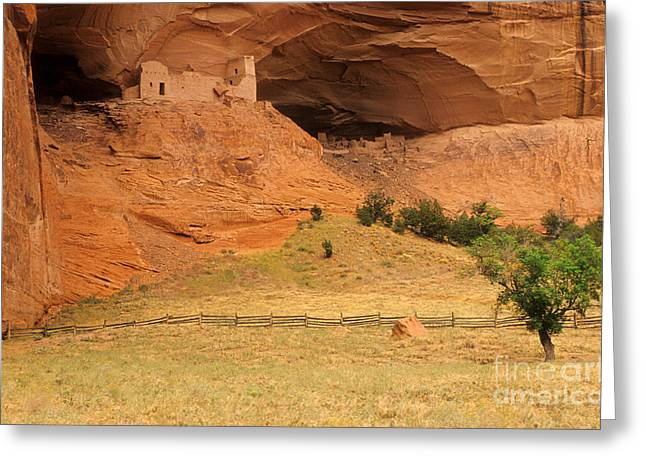 Historic Site Greeting Cards - Cliff Dwelling, Canyon De Chelly Greeting Card by Richard and Ellen Thane