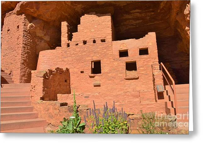 Kathleen Hill Greeting Cards - Cliff Dwelling Greeting Card by Kathleen Struckle