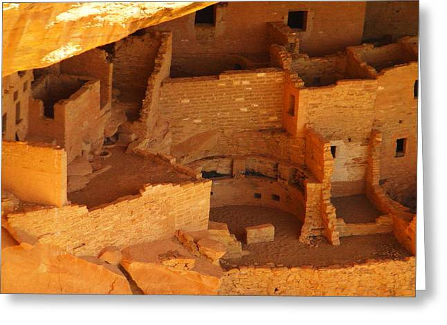Ancient Ruins Greeting Cards - Cliff Dwellings Greeting Card by Jeff  Swan