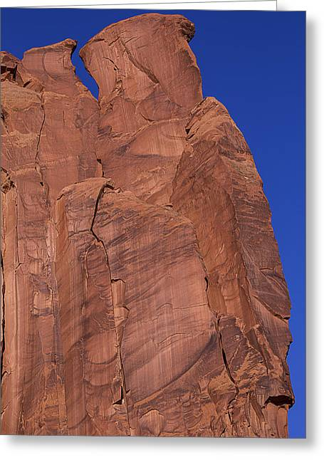 Rugged Cliffs Greeting Cards - Cliff Face Greeting Card by Garry Gay