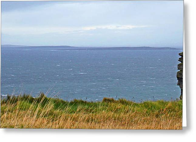 Medieval Temple Greeting Cards - Cliff of Moher Ireland Greeting Card by Joseph Semary