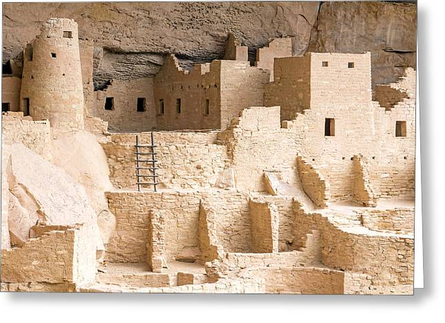 Early American Dwellings Greeting Cards - Cliff Palace 1 Greeting Card by Nicholas Blackwell