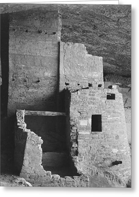 Cliff Dwellings Greeting Cards - Cliff Palace Mesa Verde National Park Colorado Greeting Card by Ansel Adams