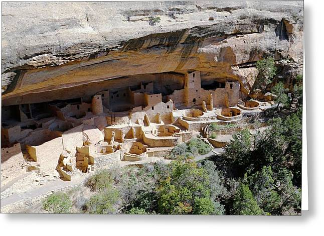 Cliff Palace Greeting Card by Michael Szoenyi