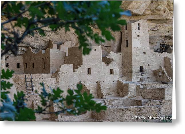 Spider Rock Art Greeting Cards - Cliff Palace Greeting Card by Sully Samartzis