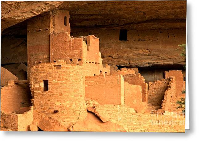 Ancient Ruins Greeting Cards - Cliff Palace Tower Greeting Card by Adam Jewell
