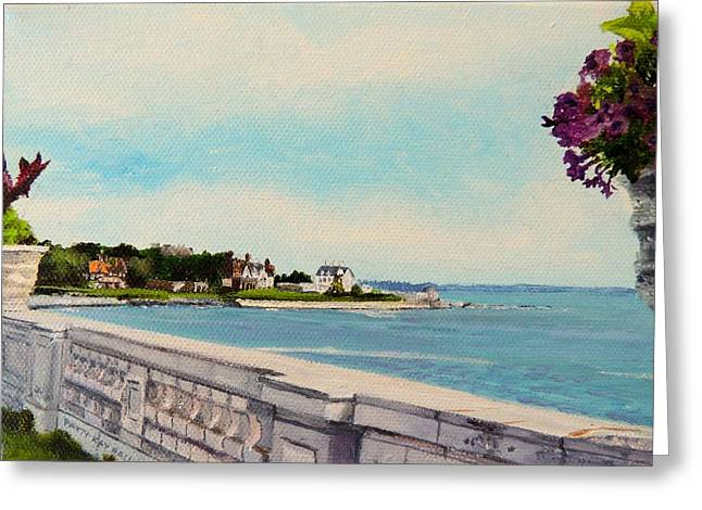 Regina Greeting Cards - 40 Steps Cliff Walk Newport RI Greeting Card by Patty Kay Hall