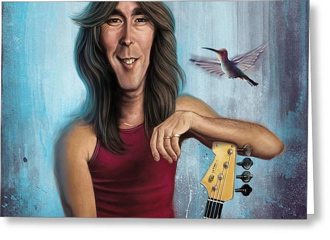 Photoshop Greeting Cards - Cliff Williams Greeting Card by Andre Koekemoer