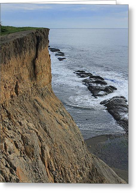 Agate Beach Greeting Cards - Cliffs at Bolinas D3A6138 Greeting Card by Ed  Cooper Photography