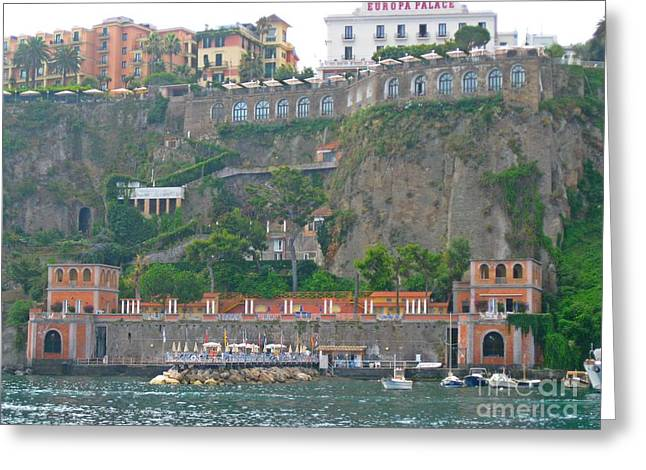 Water In Caves Greeting Cards - Cliffs at Sorrento Italy Greeting Card by John Malone