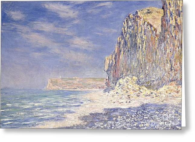 Signature Greeting Cards - Cliffs Near Fecamp Greeting Card by Claude Monet