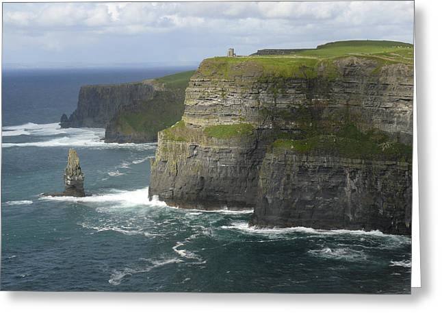Ledge Greeting Cards - Cliffs of Moher 2 Greeting Card by Mike McGlothlen
