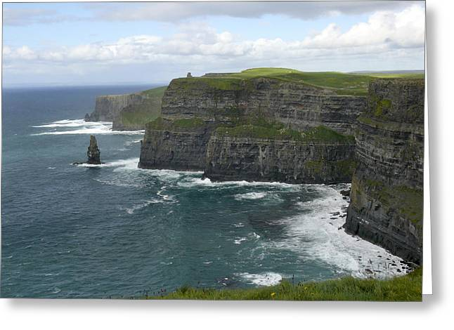 Recently Sold -  - Ledge Greeting Cards - Cliffs of Moher 3 Greeting Card by Mike McGlothlen