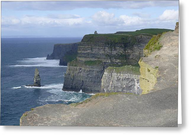 Ledge Greeting Cards - Cliffs of Moher 4 Greeting Card by Mike McGlothlen