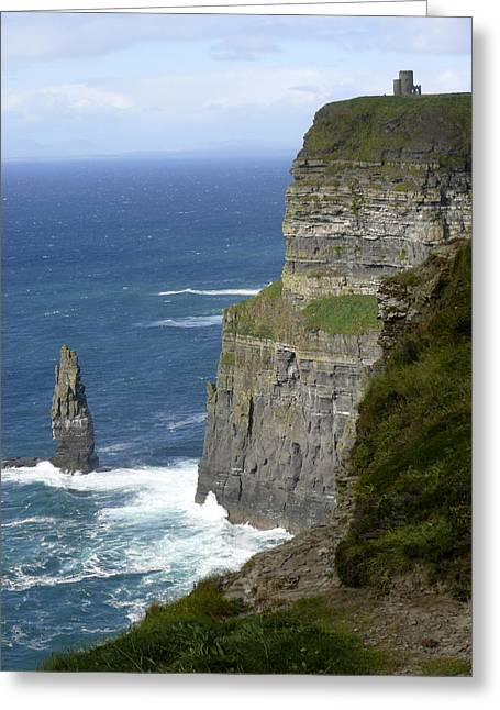 Portrait Digital Greeting Cards - Cliffs of Moher 7 Greeting Card by Mike McGlothlen