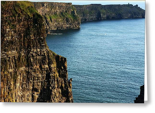 Most Visited Greeting Cards - Cliffs of Moher Clare Ireland Greeting Card by Aidan Moran