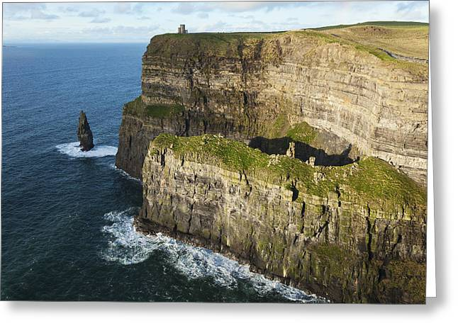 Cliffs Over Ocean Greeting Cards - Cliffs Of Moher_ County Clare, Ireland Greeting Card by Carl Bruemmer