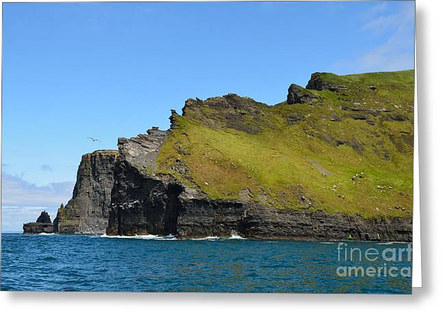 Towering Sea Cliffs Greeting Cards - Cliffs Of Moher from the sea Greeting Card by RicardMN Photography