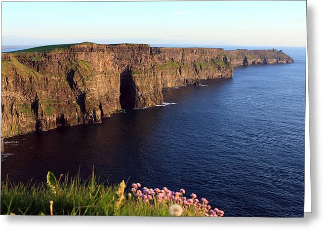 Most Visited Greeting Cards - Cliffs of Moher In Evening Light Greeting Card by Aidan Moran