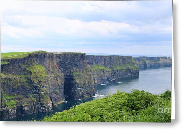 Cliffs Greeting Cards - Cliffs of Moher Panorama 3 Greeting Card by Jack Schultz