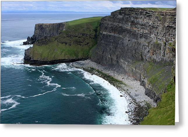 Most Visited Greeting Cards - Cliffs of Moher View Greeting Card by Aidan Moran