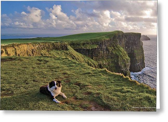 Ireland Photographs Greeting Cards - Cliffs of Moher  Greeting Card by Sean Tomkins for Ireland of the Welcomes