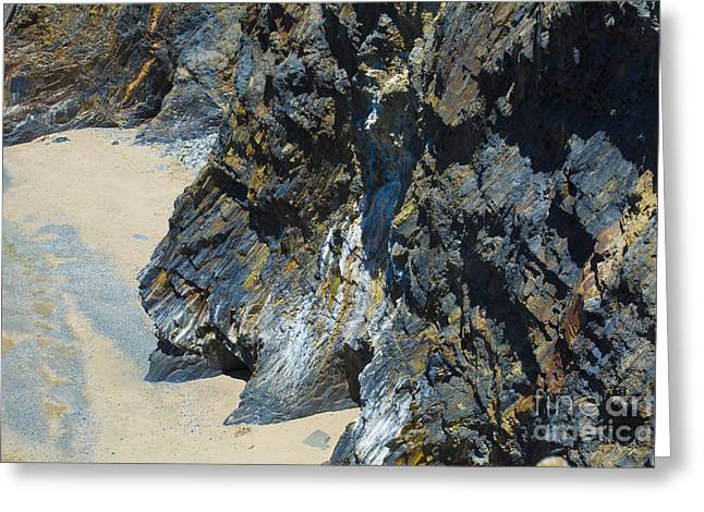 Pictures Of Sea Life Greeting Cards - Cliffs Of Pembrokeshire Greeting Card by Mair Hunt