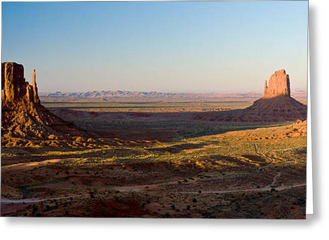 Cliffs On A Landscape, Monument Valley Greeting Card by Panoramic Images