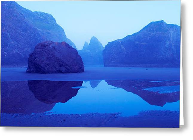 Cliffs On The Coast At Dawn, Meyers Greeting Card by Panoramic Images