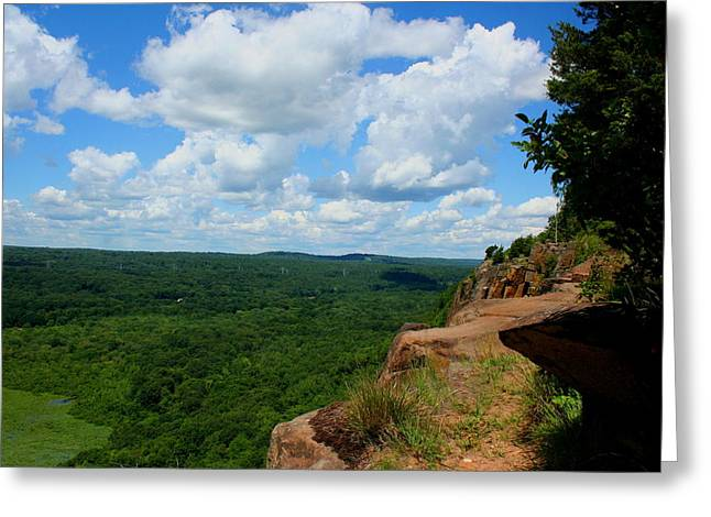 Cliffside Vista Greeting Card by Stephen Melcher