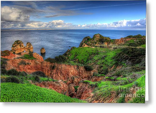 Nigel Hamer Greeting Cards - Clifftop Ravine Lagos Greeting Card by English Landscapes