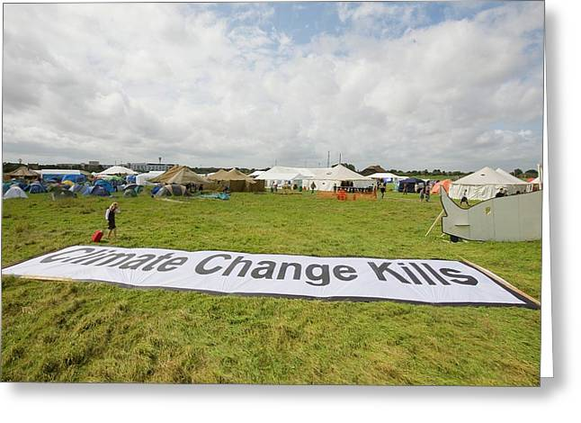 Climate Camp Protest Greeting Card by Ashley Cooper