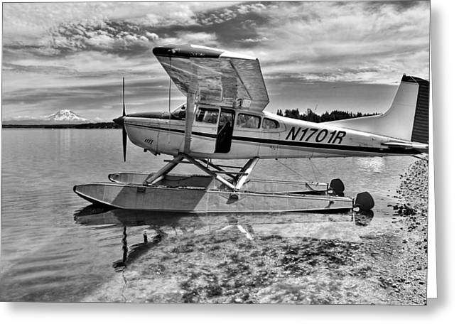 Seaplane Greeting Cards - Climb Aboard Greeting Card by Benjamin Yeager