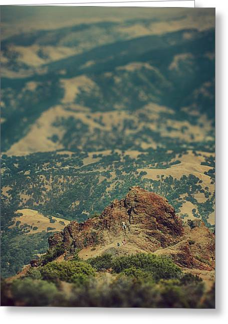 Tilted Greeting Cards - Climb Greeting Card by Laurie Search