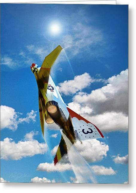 Thunderbird Greeting Cards - Climb Out 3 Greeting Card by Peter Chilelli