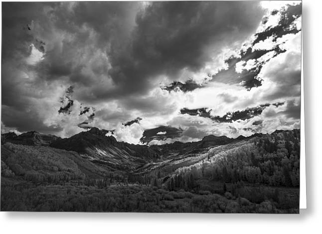 Colorado Artwork Greeting Cards - Climb the Clouds Greeting Card by Jon Glaser