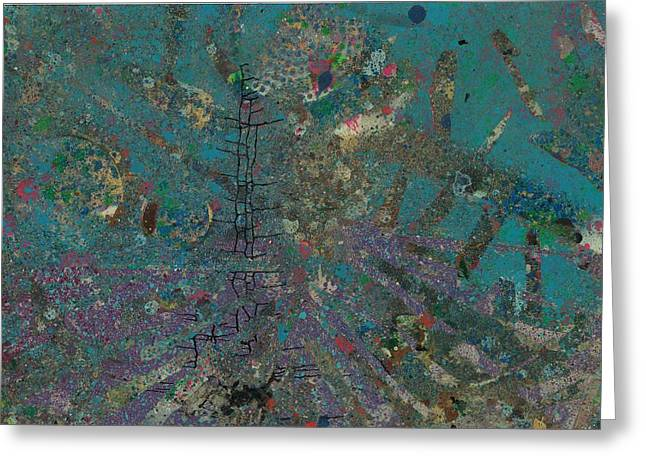 Stellar Paintings Greeting Cards - Climbing into the Drain Greeting Card by Anonymous