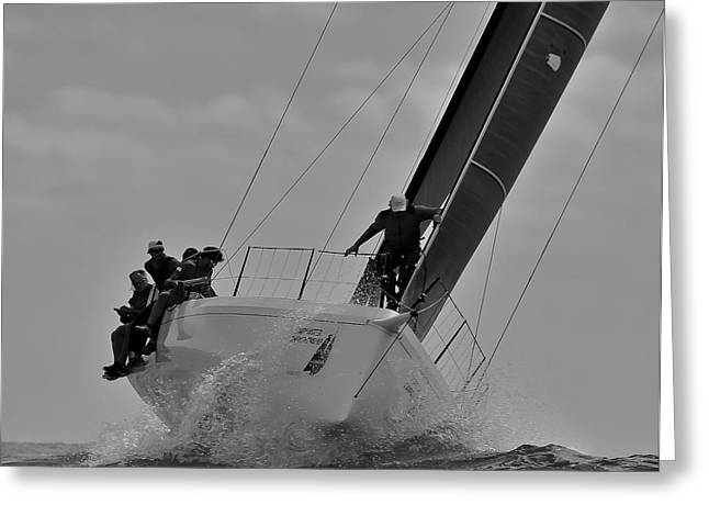 Maritime Classics Greeting Cards - Climbing the Wave Greeting Card by Steven Lapkin