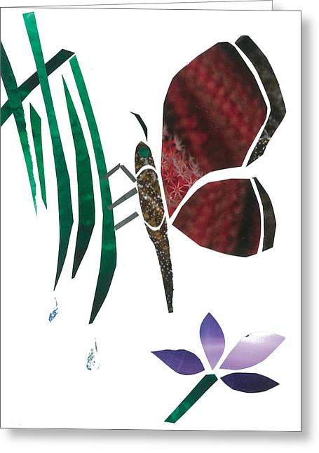Invertebrates Mixed Media Greeting Cards - Clinging Butterfly Greeting Card by Earl ContehMorgan