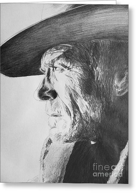 Unforgiven Greeting Cards - Clint Greeting Card by Conor O Kane