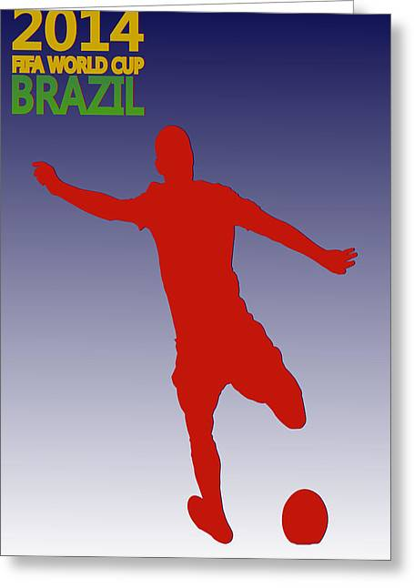 Dempsey Greeting Cards - Clint Dempsey Usa World Cup Greeting Card by Joe Hamilton