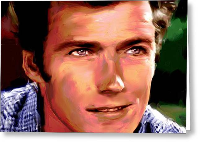Clint Eastwood Greeting Card by Allen Glass