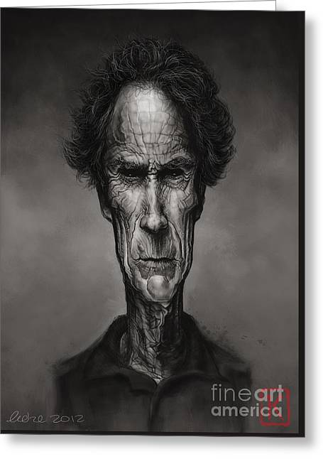Clint Greeting Cards - Clint Eastwood Greeting Card by Andre Koekemoer
