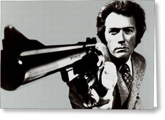 Clint Eastwood Art Greeting Cards - Clint Eastwood Big Gun 2 Greeting Card by Tony Rubino