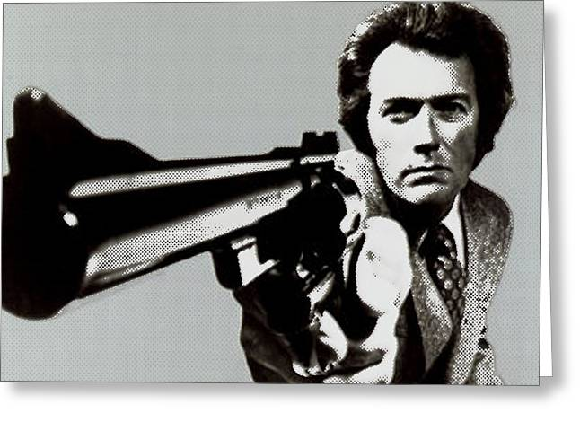 Clint Eastwood Big Gun 2 Greeting Card by Tony Rubino