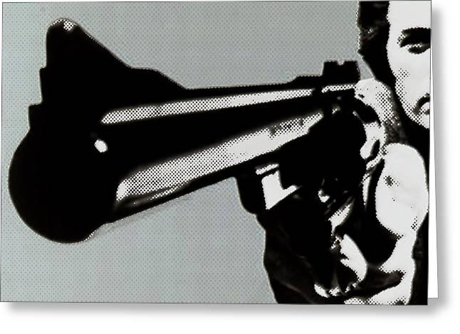 Clint Eastwood Art Greeting Cards - Clint Eastwood Big Gun Greeting Card by Tony Rubino