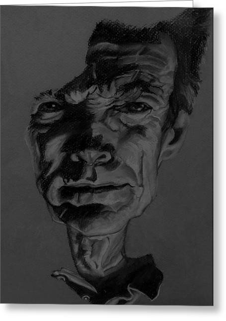 Movie Art Pastels Greeting Cards - Clint Eastwood Charcoal Greeting Card by Rob Hans
