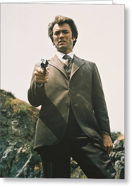 Dirty Greeting Cards - Clint Eastwood in Dirty Harry  Greeting Card by Silver Screen